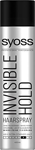 Syoss Invisible Hold Haarspray, Haltegrad 4, extra stark, 6er Pack (6 x 400 ml)