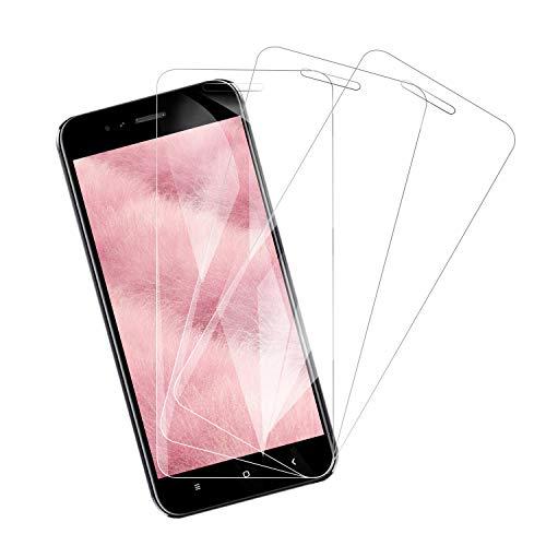 Snnisttek Vetro Temperato Xiaomi Mi A1 [3 Pezzi], Pellicola Prottetiva Copertura Massima, Durezza 9H [Alta Trasparente] [Senza Bolle] [Anti Graffio] Pellicola Vetro per Xiaomi Mi A1