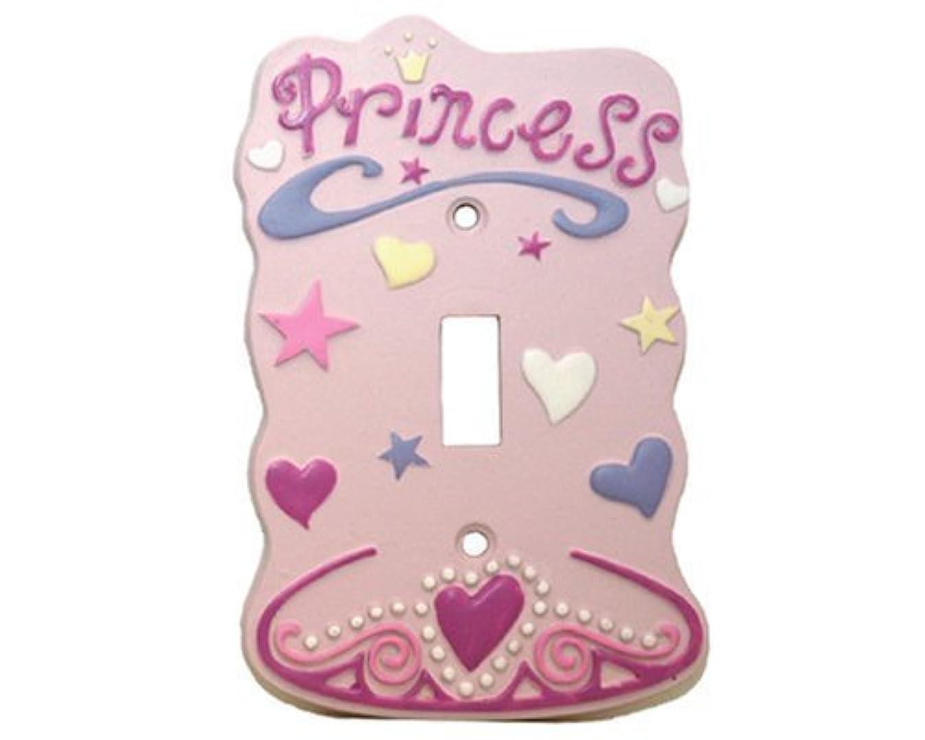 Pink Princess Single Light Switch Plate Cover Girls