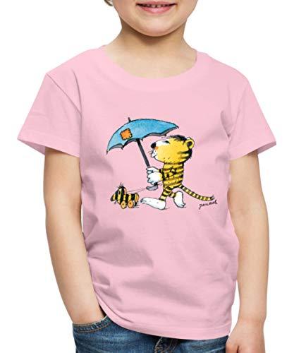 Janosch Kleiner Tiger Tigerente Mit Schirm Kinder Premium T-Shirt, 110-116, Hellrosa