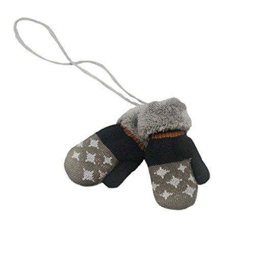 SAMGU Winter Warm Baby Handschuhe Full Fingers Jungen Mädchen Handschuhe Cotton Knitting Farbe Dunkelgrau