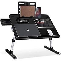 SAIJI Foldable Laptop Stand with Storage Drawer