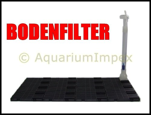 Bodenfilter RS-20P mit Gitterplatten und Steigrohr Innenfilter Filter Biofilter
