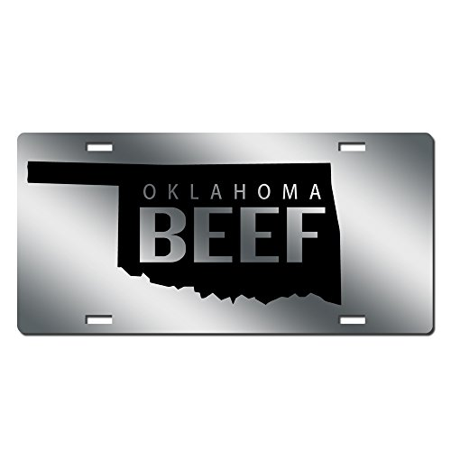 Beef License Plate Beef Farmer Car Tag Mirror Acrylic Oklahoma Beef