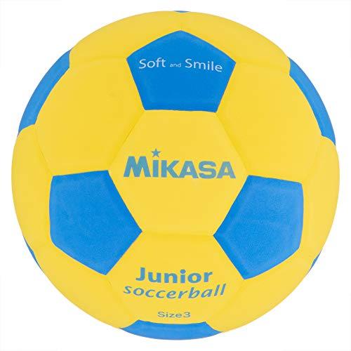 ミカサ スマイルサッカー 3号球(子供用) 軽量 柔らか素材(EVA製) ジュニア サッカーボール 黄/青 SF3J-YBL