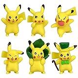 Yzoncd 6 Unids / Set Mini Figura De Pikachu De Dibujos Animados Figuras De Pokemon De Dibujos Animados Figuras De Acción De PVC Juguetes para Niños