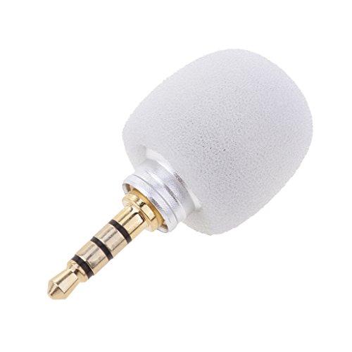 lahomia Micrófono Enchufable Mono / Estéreo / Estándar de 3,5 Mm Megáfono para PC - Blanco, Enchufe estándar de 3.5mm