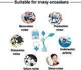 FLZONE Nasenklammer Schwimmen,6 Stück Silikon Ohrstöpsel und Nasenclip-Set,Wasserdichter Nasenclip-Silikon zum Schwimmen oder Schlafen (6 Farben) - 5