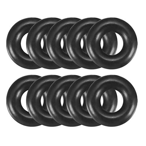 sourcingmap® 8mm x 3mm x 2.5mm Gummi Öldichtung Dichtungring O-Ring Gummiring schwarz 10 pcs de