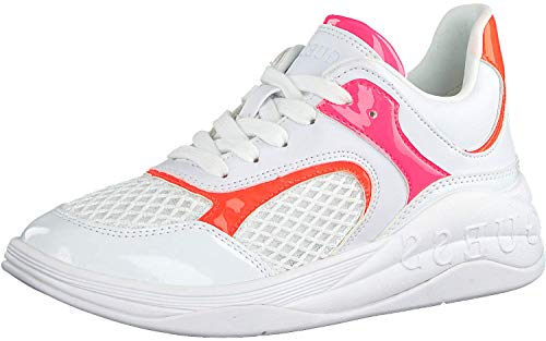 Sneaker Donna Runner Saucey by Guess, n.38, Colore Bianco con Inserti Fluo.