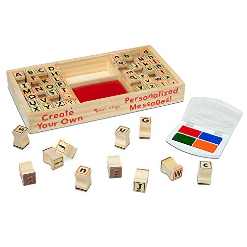 Melissa & Doug Wooden Alphabet Stamp Set...