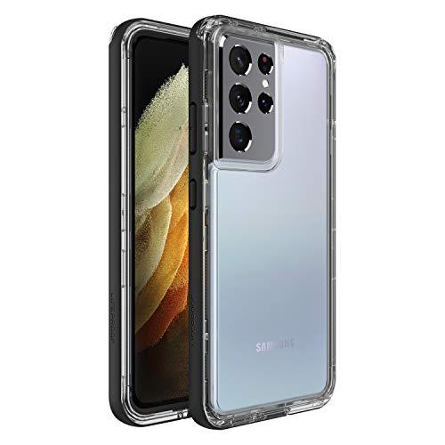 LifeProof Custodia Next Resistente a Caduta, Polvere e Neve per Samsung Galaxy S21 ULTRA, Trasparente / Nero