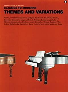 Classics to Moderns Themes and Variation: Piano Solo