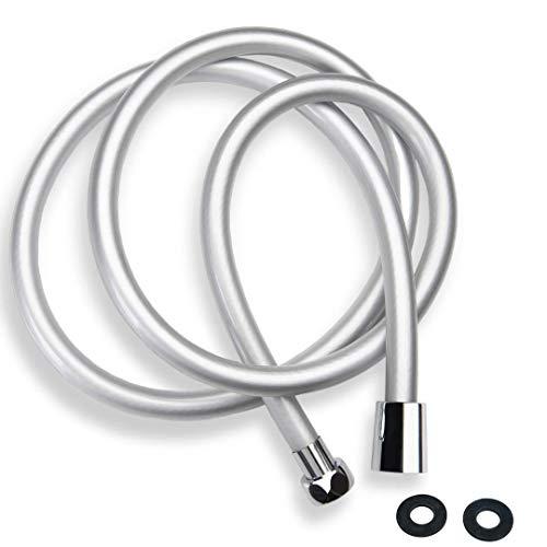 ZOTTI - Manguera de ducha de PVC de 1 m, resistente manguera de ducha de repuesto a prueba de fugas y antiráfagas, ajuste estándar universal, resistencia a alta presión, fácil de reemplazo