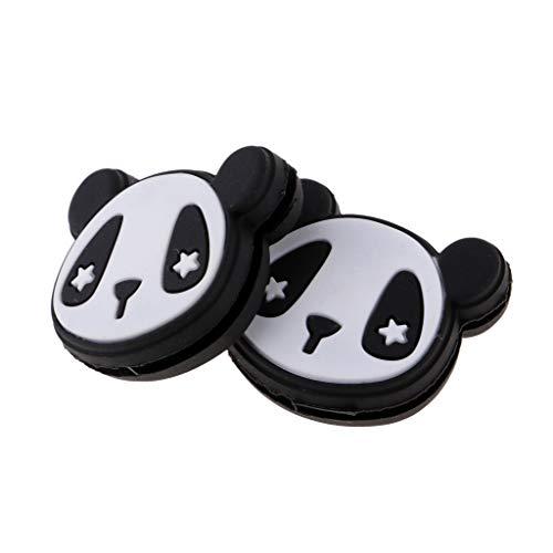 SM SunniMix Juego De Amortiguadores De Vibración De Raqueta De Tenis Durables Y Cómodos De 2 Piezas - Panda Negro, Tal como se Describe