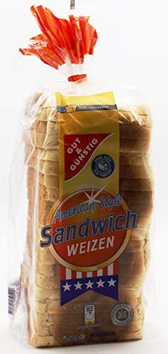 Gut und Günstig American Style Sandwich Toast, 10er Pack (10 x 750g)