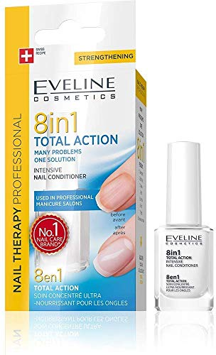 EVELINE Cosmetics Thérapie pour les ongles - Conditionneur Intensif 8 en 1 TOTAL ACTION 12ml