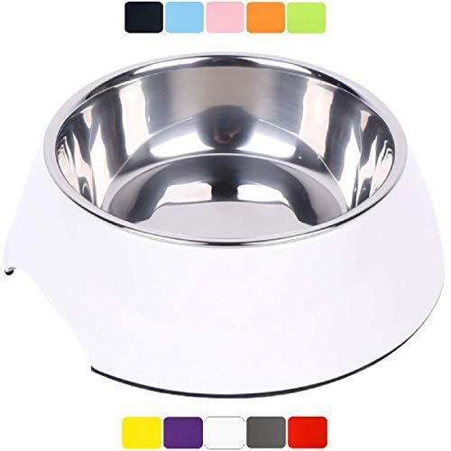 DDOXX Fressnapf, rutschfest | viele Farben & Größen | für kleine & große Hunde | Futter-Napf Katze | Hunde-Napf Hund | Katzen-Napf Edelstahl-Napf | Melamin-Napf | Weiß, 160 ml