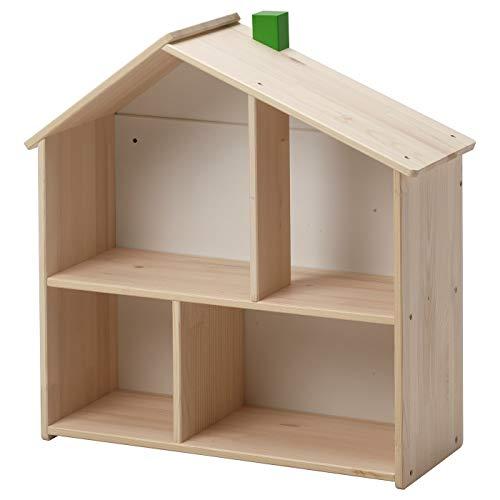 Estante de pared para casa de muñecas, tamaño montado: ancho: 58 cm, profundidad: 22 cm, altura: 59 cm