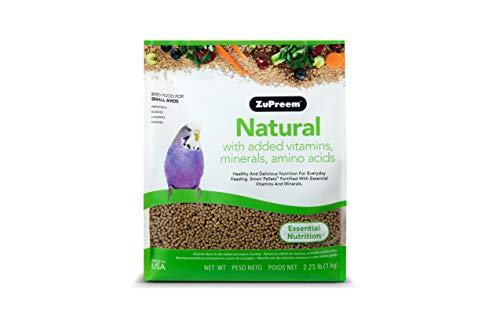 ZuPreem Natural with Added Vitamins, Minerals, Amino Acids Small Bird Food, 2.25 lb