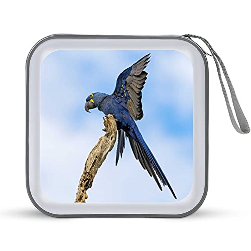 Birds Parrot Flap Flight 40 - Funda portátil para CD, DVD/VCD, soporte para carpetas, carpetas, folleto para coche, hogar, oficina, viajes, DJ, organizador de discos