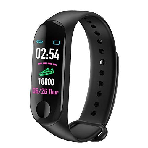 POKQHG Mannen Vrouwen Smart Horloge Ip67 Waterdichte Sport Fitness Tracker Hartslagmeter Bloeddruk Klok Smartwatch Voor Android Ios, Zwart
