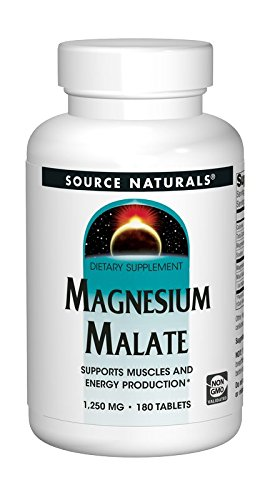 Source Naturals Magnesium Malate, 1250Mg, 180 Tablets by Source Naturals