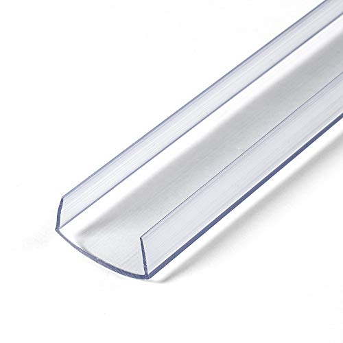 """Outwater Plastics 100-Cl Clear 1"""" Rigid Vinyl Clear Plastic U-Channel/C-Channel 36 Inch Lengths (Pack of 4)"""