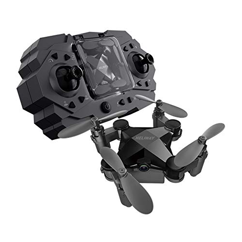 FairOnly Faltendes Mini-Drohnen-Vierachsen-Luftfotografie-Flugzeug-Spielzeug Schwarz - feste Höhe