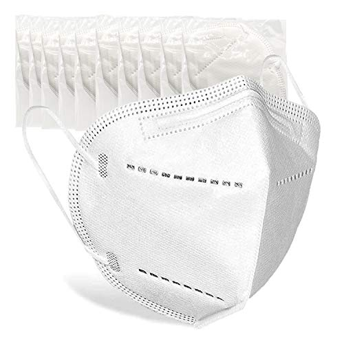Disposable Indivdually Packaged Face Mask 20 Pack, Earloop Face Protection, 5 Layer Protection Breathable Cup Dust Mask, Comfortable Adjustable Earloop Suitable For Daily Use