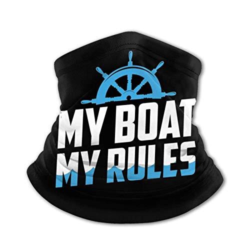 My Boat My Rules Pañuelo de Seda de Hielo al Aire Libre para Adolescentes, pañuelo para la Cabeza, Bufanda cálida para el Cuello, pasamontañas Multifuncional para la Cabeza