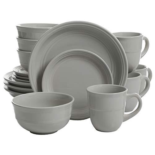 Mainstays 16-Piece Round Dinnerware Set in Linen