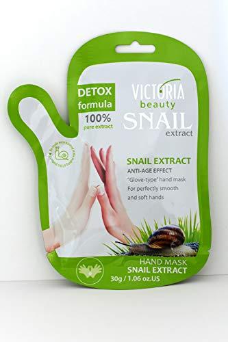 Victoria Beauty – Anti Aging Handmaske mit Handschuh – Hand Repair Maske mit Schnecken-Extrakt – für trockene Haut - Spa-Handschuh, Feuchtigkeitshandschuhe – 1 x 30g