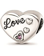 Reflexiones cristales de esmalte amor corazón cuentas joyas regalos para mujeres
