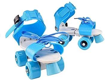 OPARYY Kids Roller Skates,Adjustable Speed Quad Roller Skates Shoes Birthday Gift for Girls and Boys,Blue