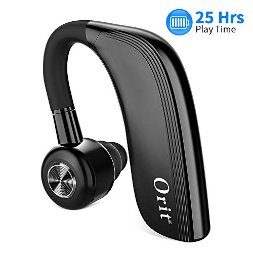 Bluetooth Headset [25 Stunden Gesprächszeit, Eleganten Business Stil]Bluetooth Drahtloser Kopfhörer Sport Freisprech Headset mit Mikrofon In Ear Rauschunterdrückung Einohr Ohrhörer Funk-Kopfhörer