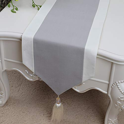 RYC - Camino de mesa de lino, de calidad, decoración artística moderna, lino, Lin-005, 33*300cm