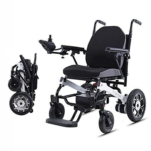 FHISD Intelligent Leichtester Elektrorollstuhl Zusammenklappbare motorisierte Elektrorollstühle 500 W Leistungsstarke Doppelmotorgewichte Nur 35 Pfund