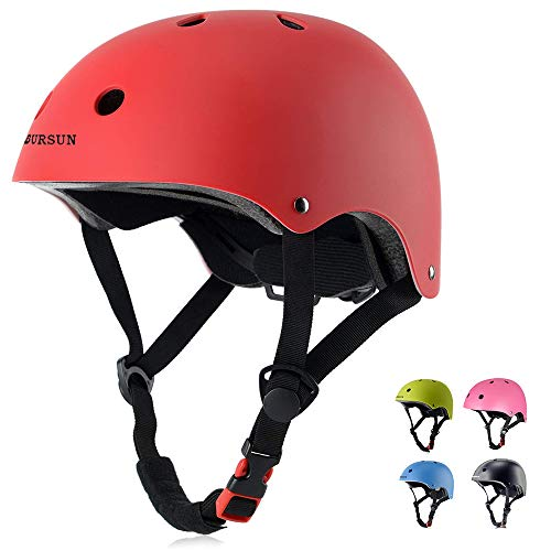BURSUN Kids Bike Helmet CPSC Certified Ventilation & Adjustable Toddler Helmet for Ages 3-8 Kids Boys Girls Multi-Sport Helmet