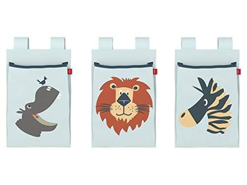 Flexa Safari Betttaschen für Kinderbett 3 Stück 83-90229