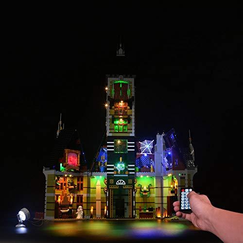 POXL LED Beleuchtungsset für Lego Geisterhaus - LED Licht für Lego Haunted House 10273 - Ohne Lego Set