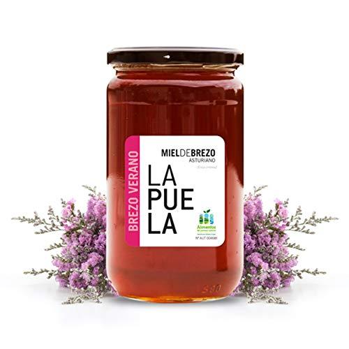 LAPUELA Miel de Brezo. Miel de origen natural desde Asturias - Aroma intenso y persistente (750 gr)