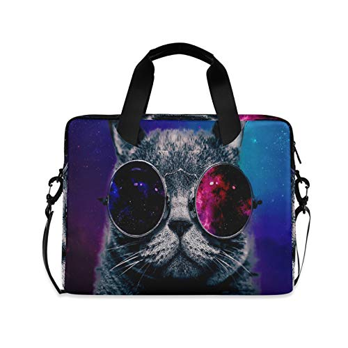Computer Carrying Case for Adult Kids Laptop Bag Cat Computer Bags 13-15.6 inch Laptop Sleeve Case Laptop Shoulder Bag Laptop Carrying Bag with Strap Handle