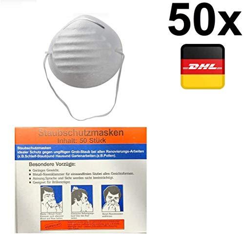 50x Stück einlagige Maske einfache Staub Hygiene Mund Nase Maske Universalmaske