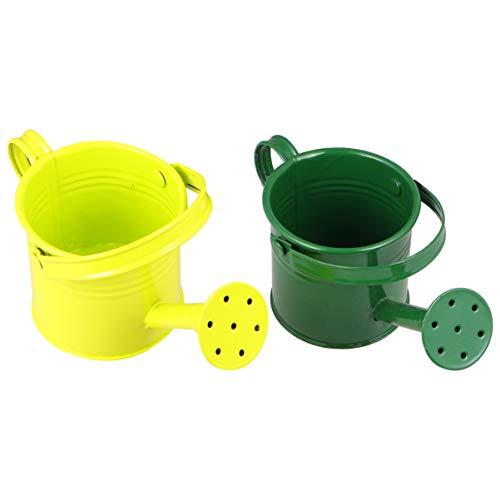 NUOLUX じょうろ 水やり缶 小型 水さし おしゃれ ミニ ジョウロ 鉄 子供 ガーデニング 園芸用 2個入り (ランダムカラー)