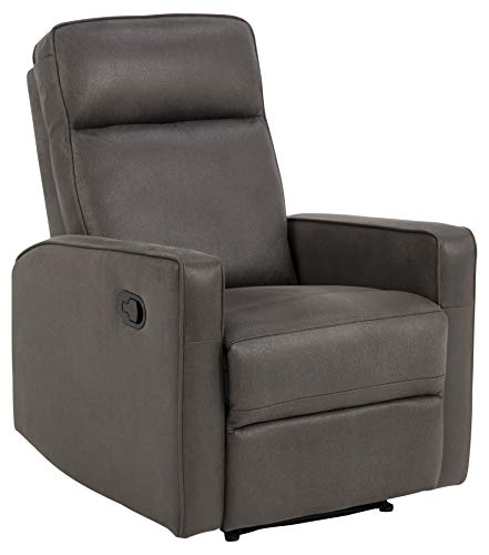 AC Design Furniture Arnold Armchair, Fabric, Grey, L: 91 x W: 72 x H: 103 cm