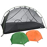 Hyke & Byke 1 Person Backpacking Tent with Footprint - Lightweight...
