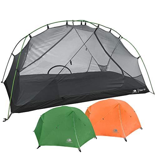 Hyke & Byke Zion Zelt 2 Personen und Zelt 1 Person mit Zeltboden - Leichtes Zwei- und Einmannzelt in Kuppelform mit Zwei Eingangstüren