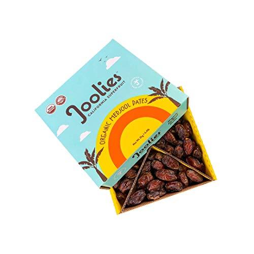 Joolies Organic Whole Medjool Dates | Large Grade, 4.4 Pound Bulk Box | Fresh California Grown Fruit | Vegan, Gluten-Free, Paleo, No Sugar Added | Perfect Holiday Gift for Friends & Family