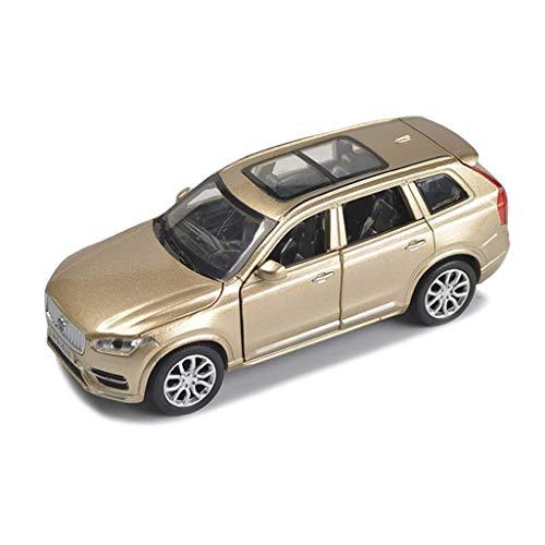 Modelo de coches para niños 01:32 XC90 modelo de coche de aleación, SUV todoterreno coches modelo de simulación, el sonido y la luz del juguete de desmontaje posterior, ornamentos del coche, 6x15x5.5c